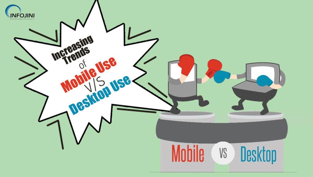 Increasing Trends of Mobile Use V/S Desktop Use
