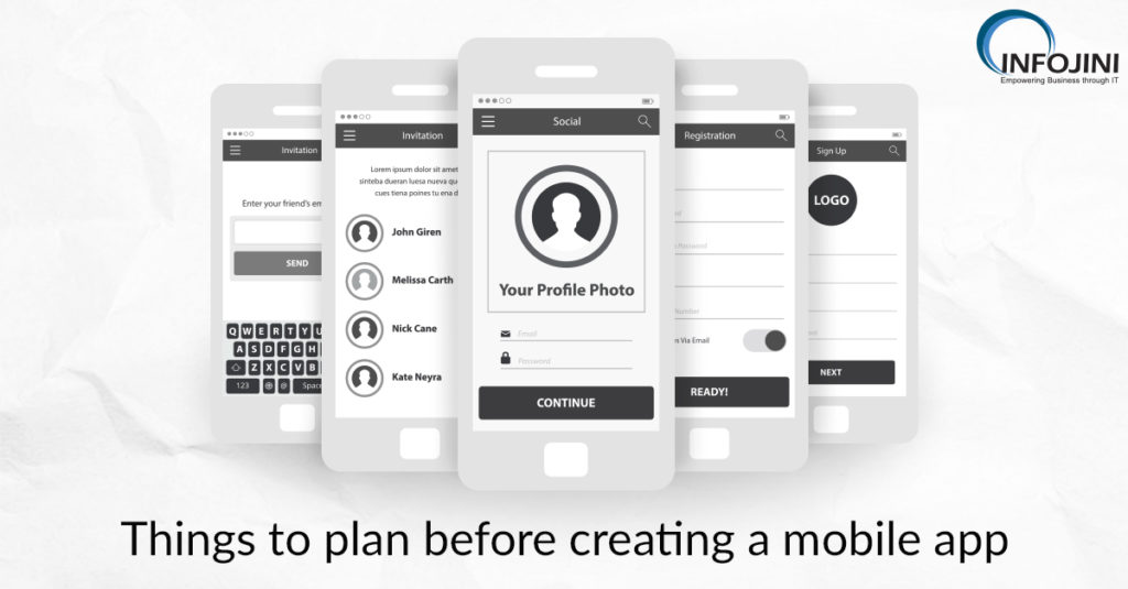 Things to plan before creating a mobile app