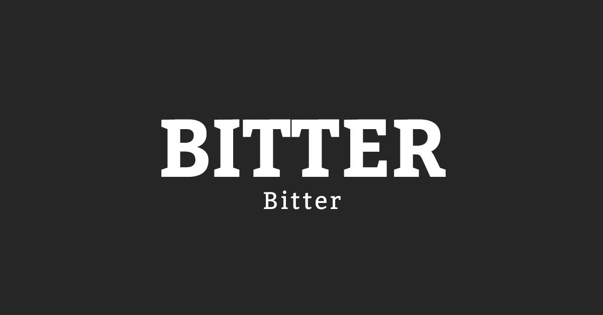 Bitter Font