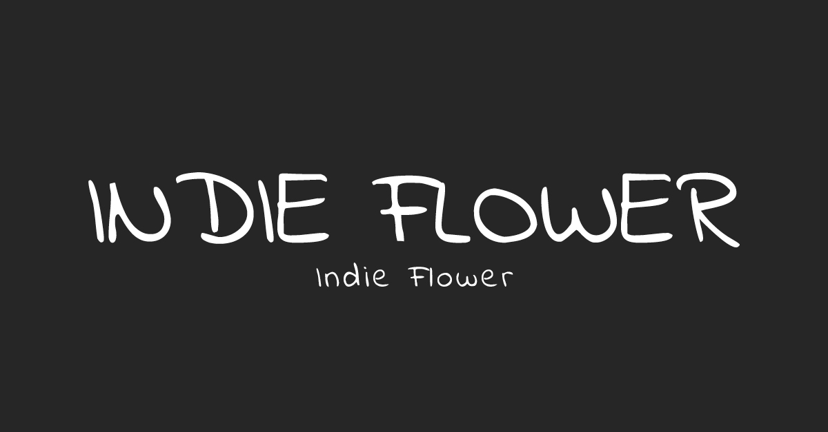 Indie Flower Font