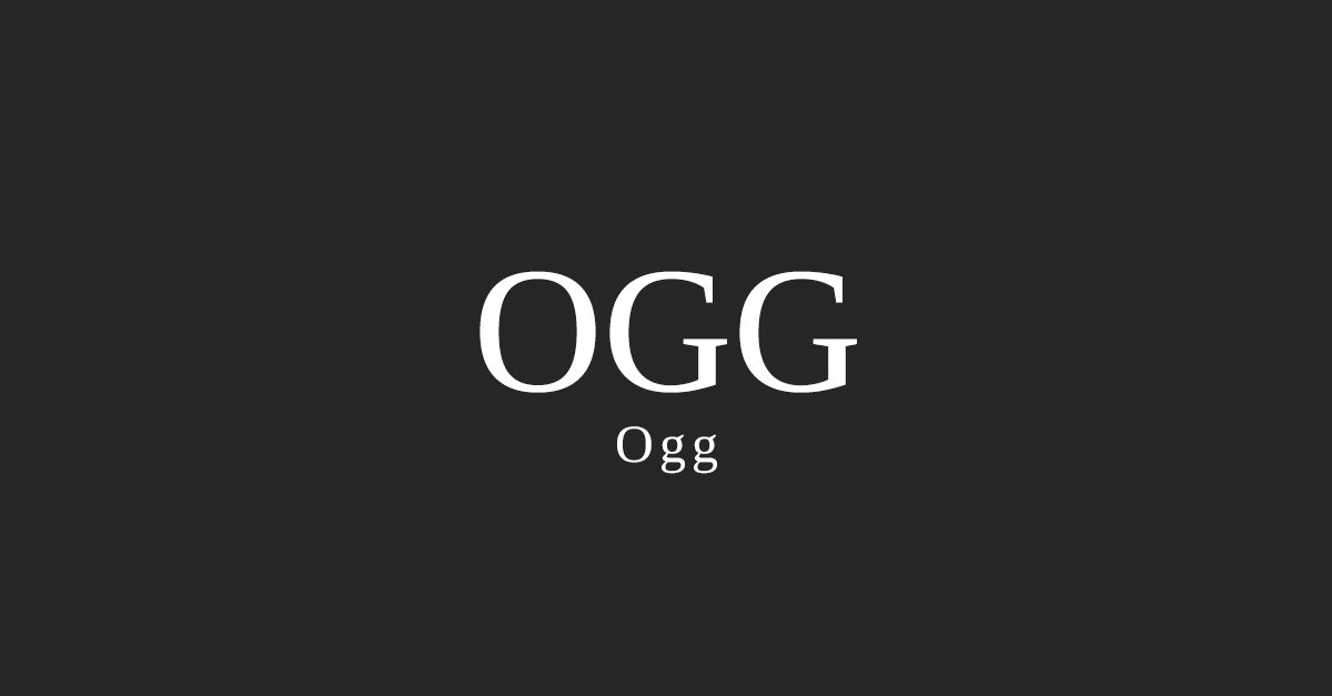 Ogg Font