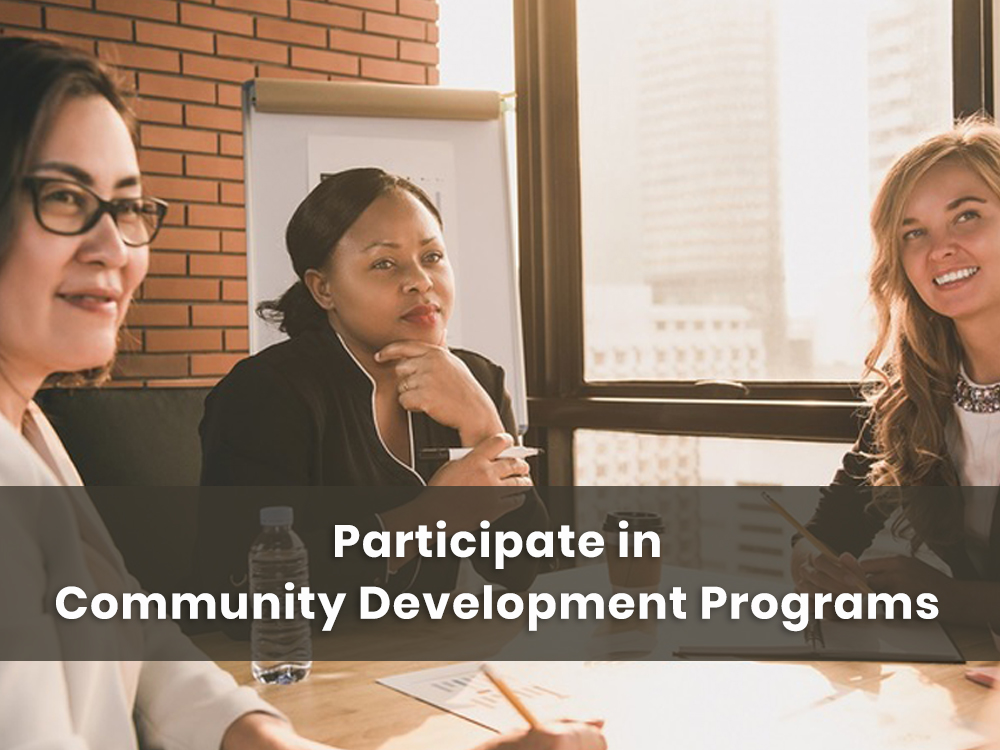 Meeting for community development initiatives taking place
