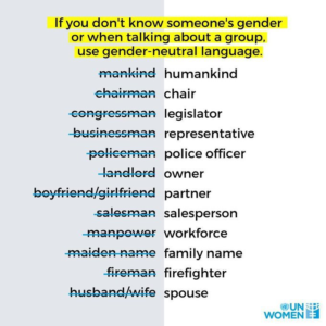 Gender Inclusive Language