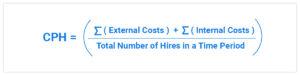 Cost-per-hire Formula