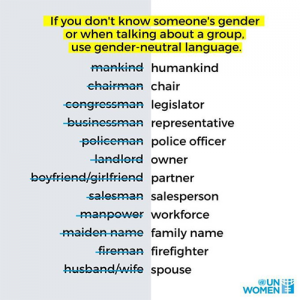 Gender Neutral Language